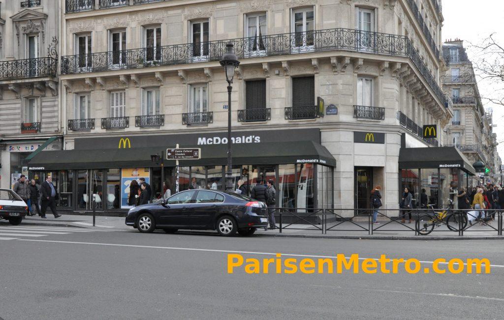 Mcdonald 39 s luxembourg panth on paris en m tro - Bureau de change porte de clignancourt ...