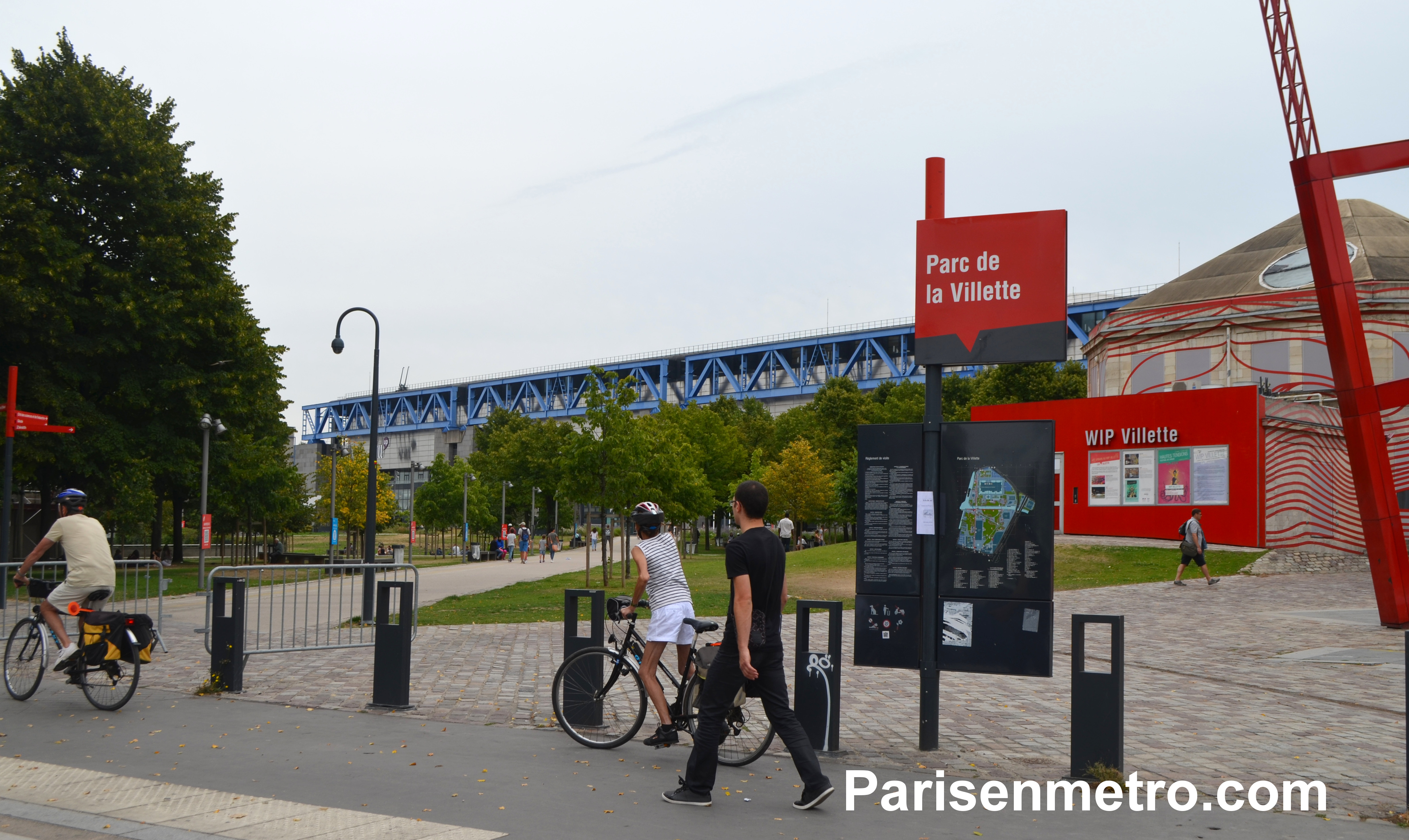 Parc de la villette paris en m tro - Metro porte de la villette ...