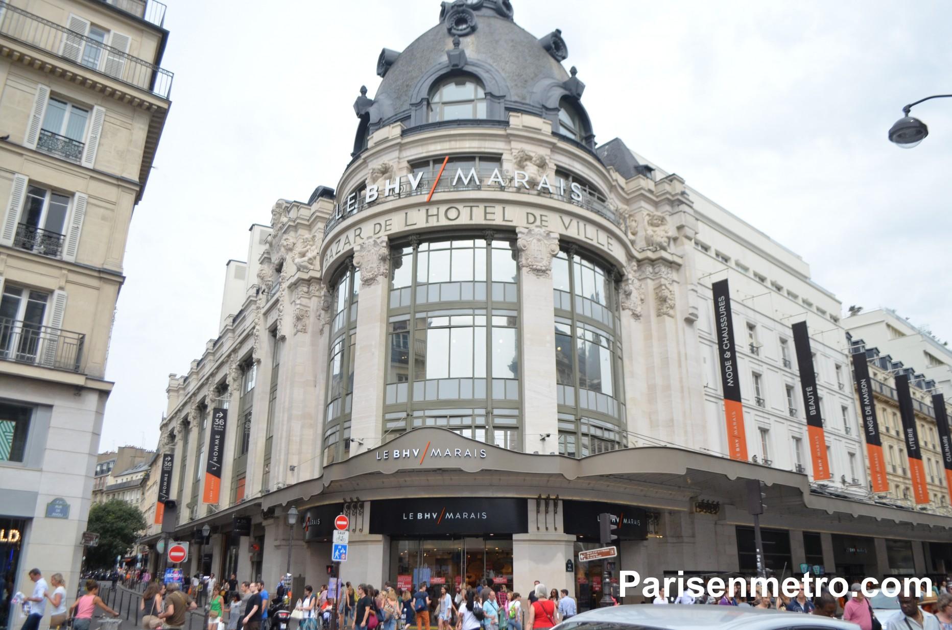 Le BHV Marais L'homme (Bazar de l'Hôtel de Ville)