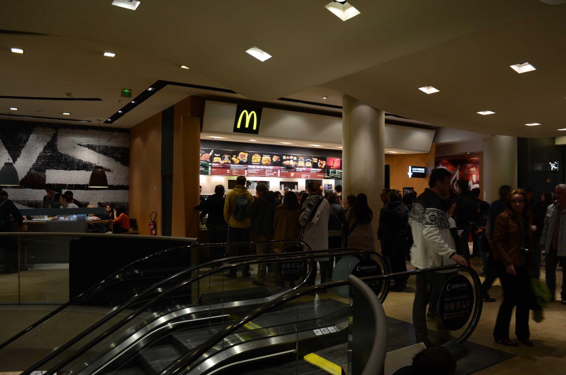 McDonald's Paris carrousel du louvre