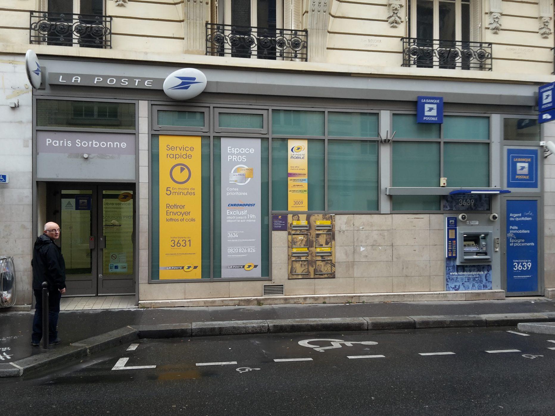 Bureau de poste paris sorbonne à paris en métro