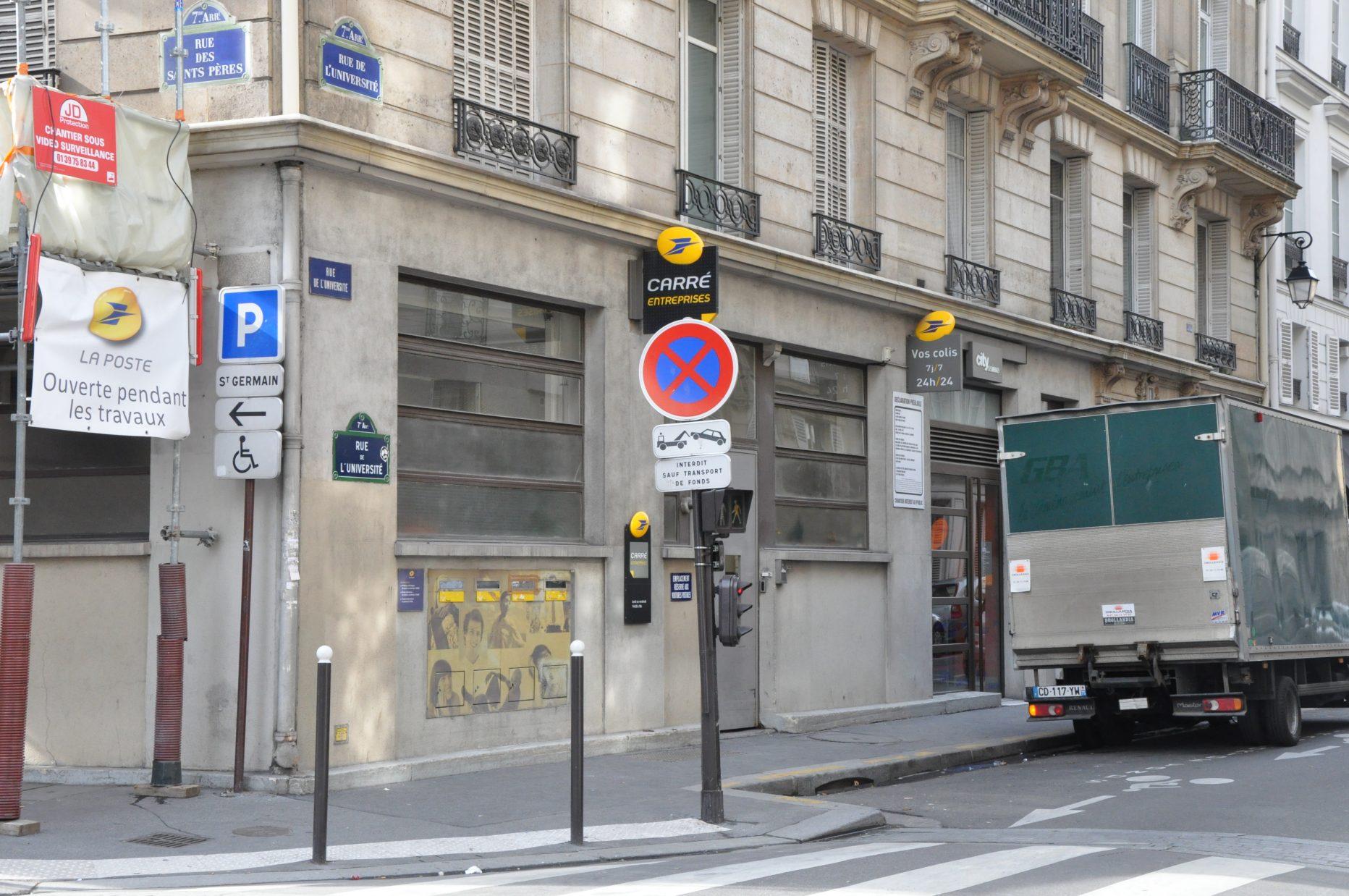 Bureau de poste paris palais bourbon à paris en métro